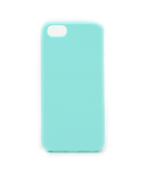 Silicon case flat iPhone 5/5s groen